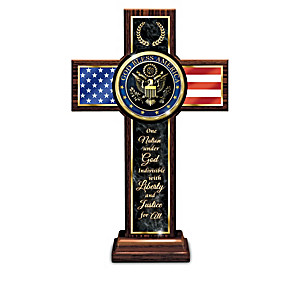 """God And Country"" Wooden Cross Collection"