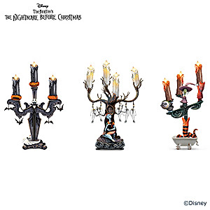 Nightmare Before Christmas Candelabras With Flameless Lights