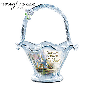 "Thomas Kinkade ""Reflections Of Hope"" Hand-Blown Glass Bowls"