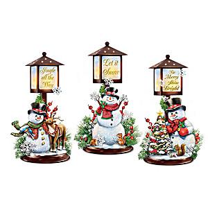 Dona Gelsinger Illuminated Snowman Lantern Collection