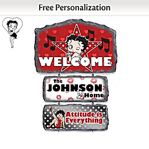 Betty Boop Personalized Welcome Sign Collection