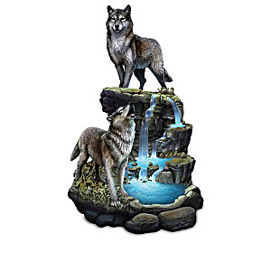 Al Agnew Illuminated Wolf Sculpture Collection