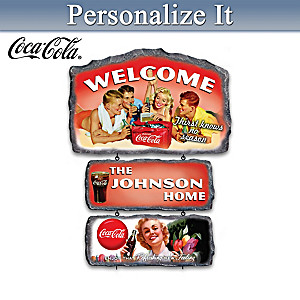 COCA-COLA Personalized Seasonal Welcome Sign Collection