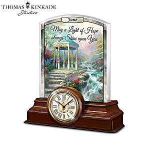 Thomas Kinkade Illuminated Clock Calendar Collection