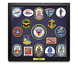 Navy Historic Replica Patch Collection And Wall Display