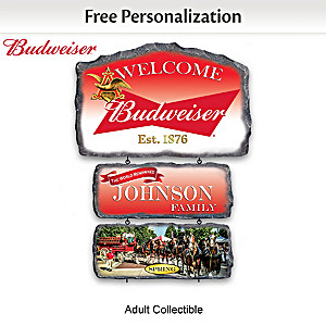 Budweiser Personalized Seasonal Welcome Sign Collection