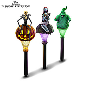 The Nightmare Before Christmas Solar Yard Stakes Collection