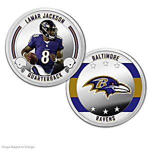 Baltimore Ravens Proof Coin Collection With Display