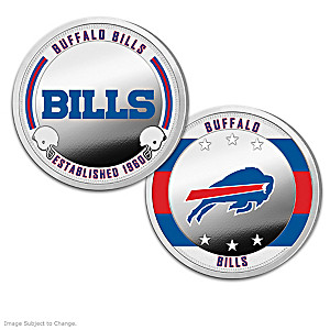 Buffalo Bills Proof Coin Collection With Display