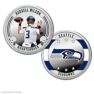 Seattle Seahawks Proof Coin Collection With Display