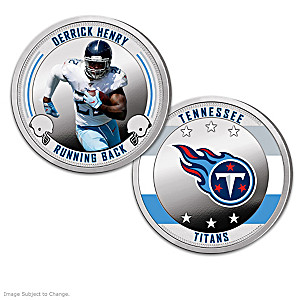 Tennessee Titans Proof Coin Collection With Display