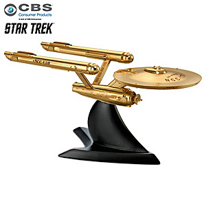 STAR TREK Cast Metal Starship Sculpture Collection
