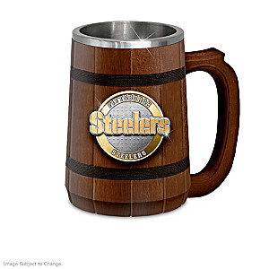 Pittsburgh Steelers Wood Tankard Collection