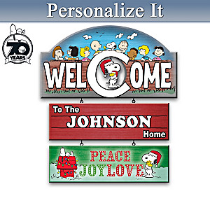 The PEANUTS Gang Personalized Welcome Sign Collection