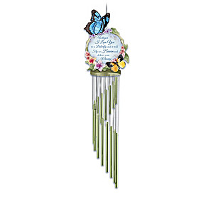 Memorial Outdoor Wind Chime Collection With Sculpted Art