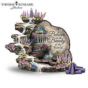 "Thomas Kinkade Incense Burners With ""Cascading Water"" Motion"
