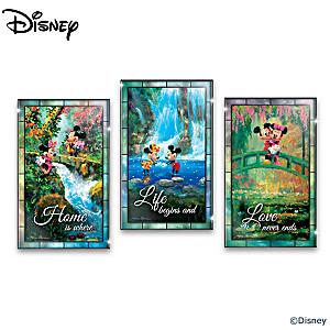 Disney Illuminated Stained Glass Wall Decor