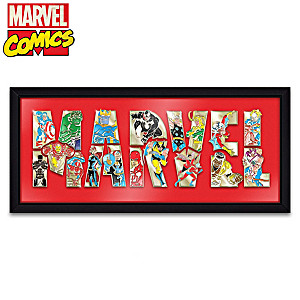 MARVEL Comics Puzzle Pin Collection With Display