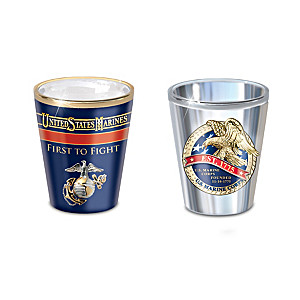 """History Of The USMC"" Shot Glass Collection"