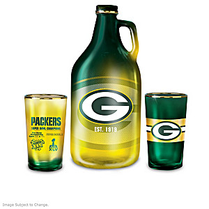 Green Bay Packers Pint Glasses And Growler Collection