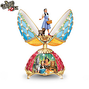 THE WIZARD OF OZ Peter Carl Faberge-Style Musical Eggs