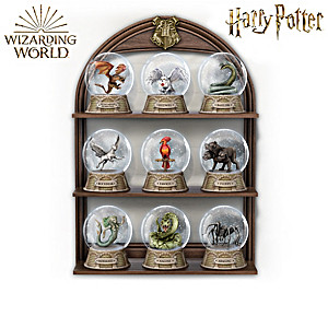 HARRY POTTER Glitter Globe Collection With Display