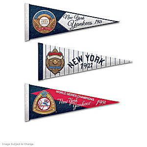 New York Yankees World Series Pennant Collection