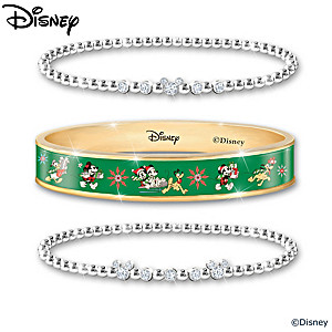 Disney Bangle Bracelets For Each Month Of The Year With Case