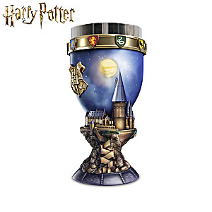 HARRY POTTER Goblets With WIZARDING WORLD Sculptures