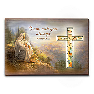 Greg Olsen Stained Glass Wall Decor Collection With Lights