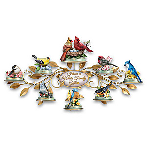 Songbird Limoges-Style Porcelain Box Collection With Display