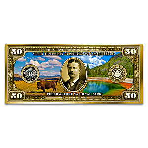 24K-Gold National Parks Tribute Notes With Display Case