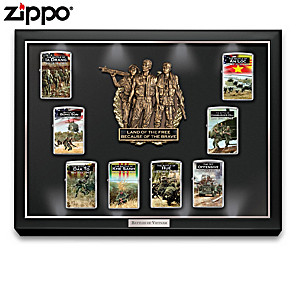 Battles Of Vietnam Zippo® Lighters With Lighted Display