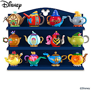 Disney Decorative Ceramic Teapots With Display