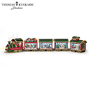 Thomas Kinkade Illuminated Train Sculpture Collection