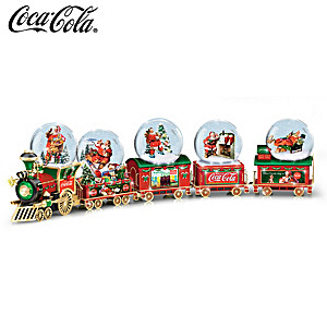 COCA-COLA Through The Years Snowglobe Train Collection