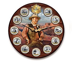 John Wayne Wall Clock And Medallion Collection