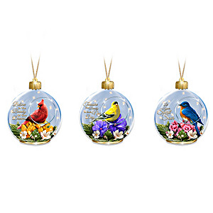 The Sparkle Of Songbirds Illuminated Ornament Collection