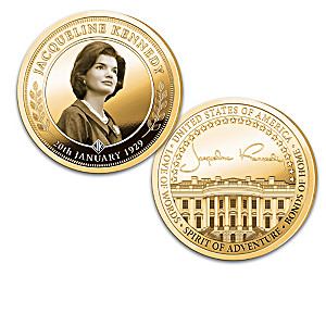 The Jacqueline Kennedy 24K Gold-Plated Proof Coin Collection