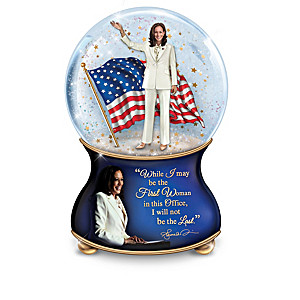 Kamala Harris Porcelain Musical Glitter Globes Quotes