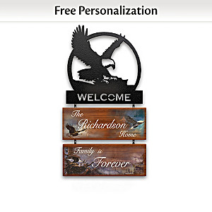 "Ted Blaylock ""Majestic Guardians"" Personalized Welcome Sign"