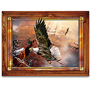 Ted Blaylock Eagle Art Illuminated Stained Glass Collection