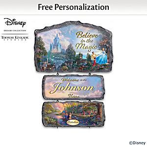 Disney Personalized Welcome Sign With Thomas Kinkade Artwork