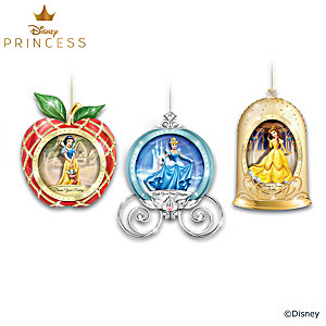 Believe In The Magic Illuminated Glass Ornament Collection