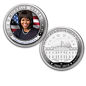 First Lady Michelle Obama Proof Coin Collection And Display