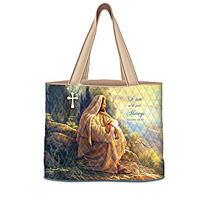 """Greg Olsen """"Faithful Journey"""" Quilted Tote Bag Collection"""