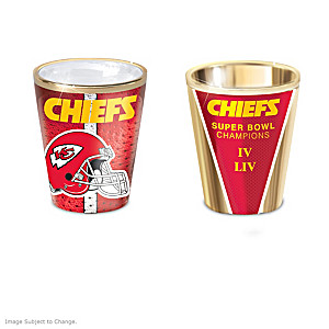 Kansas City Chiefs Shot Glasses With Colorful Finishes