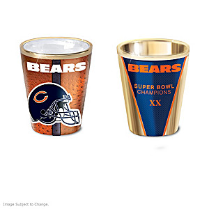 Chicago Bears Shot Glasses With Colorful Finishes