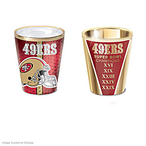 San Francisco 49ers Shot Glasses With Colorful Finishes