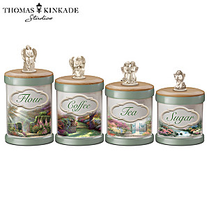 Thomas Kinkade Kitchen Canister Collection With Labels